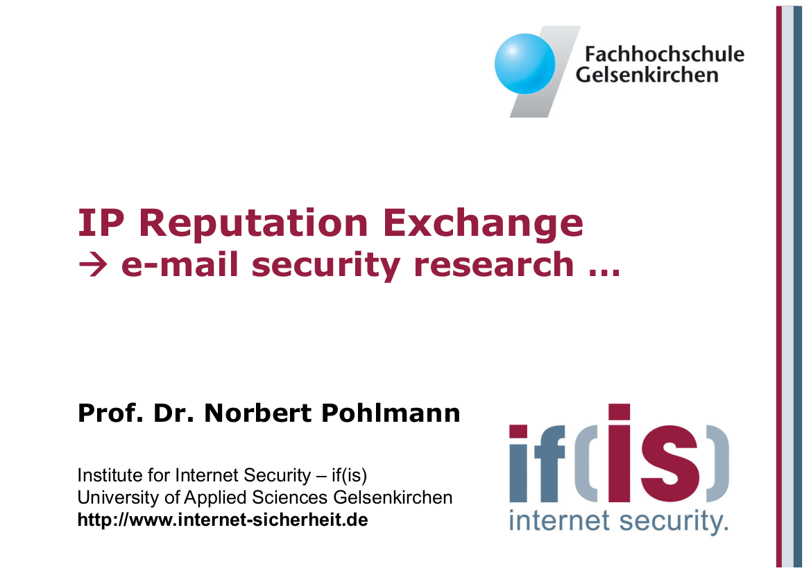 193-IP-Reputation-Exchange-e-mail-security-research-Prof.-Norbert-Pohlmann