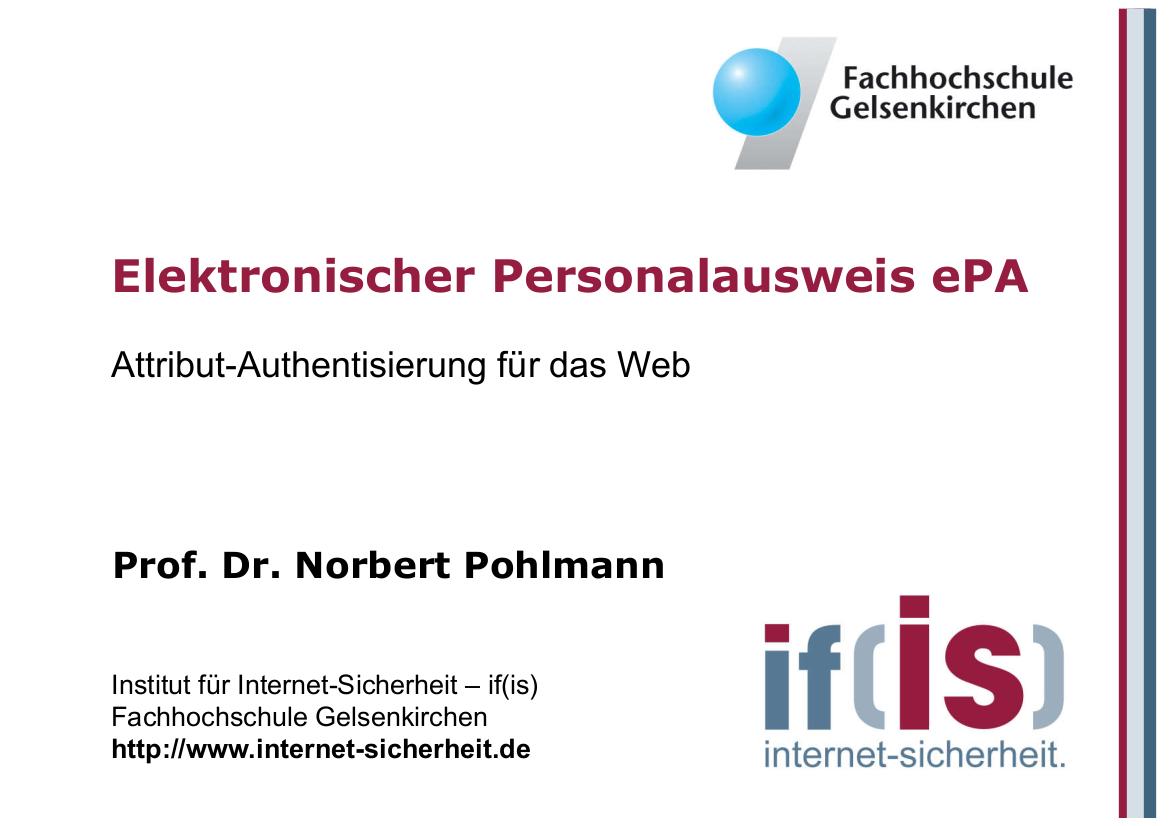 198-Elektronischer-Personalausweis-–-Attribut-Authentisierung-für-das-Web-Prof.-Norbert-Pohlmann