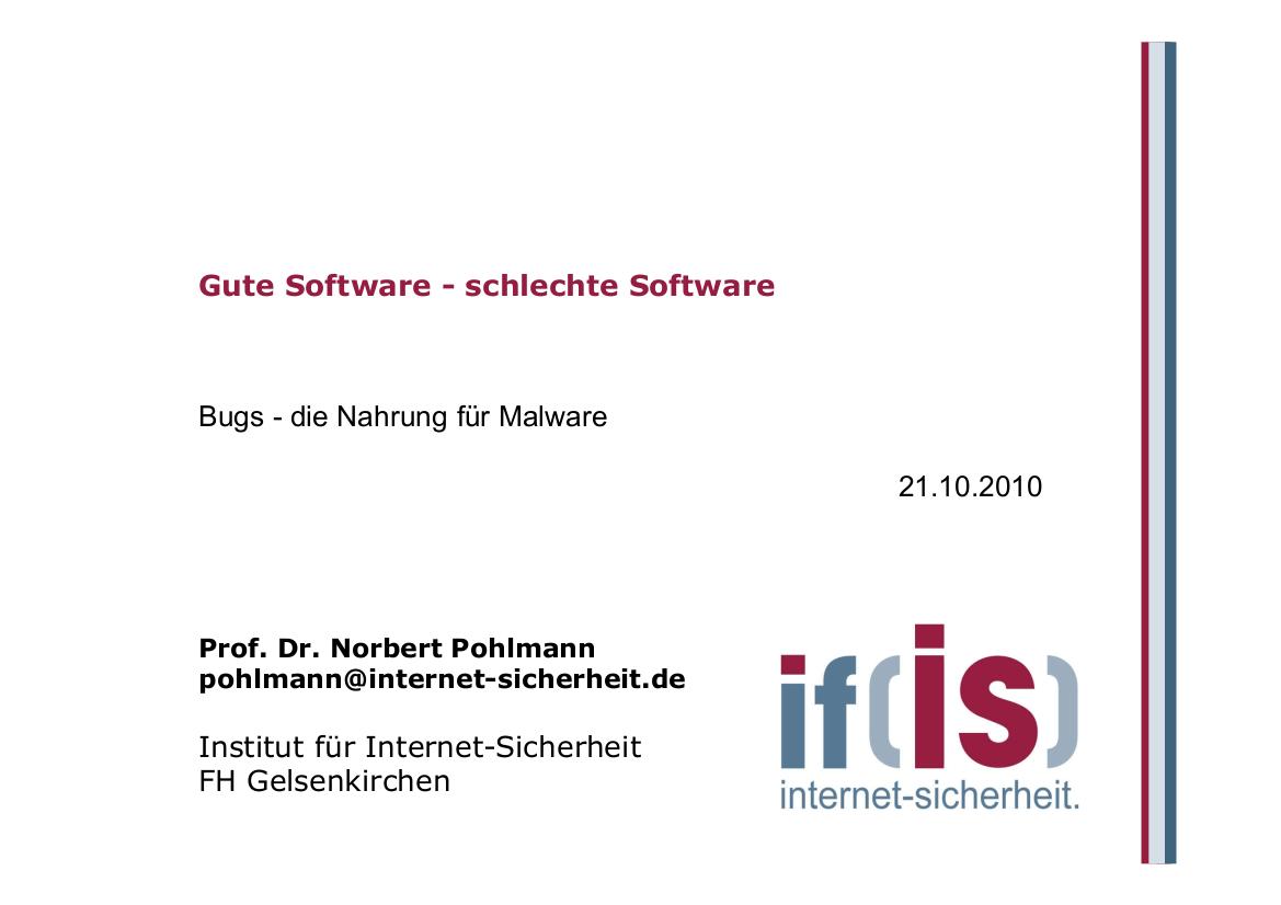231-Gute-Software-–-schlechte-Software-Prof.-Norbert-Pohlmann