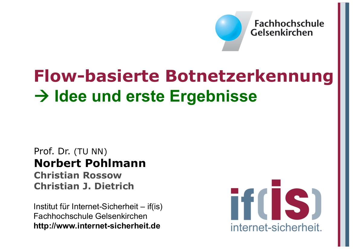 234-Flow-basierte-Botnetzerkennung-–-Idee-und-erste-Ergebnisse-Prof.-Norbert-Pohlmann