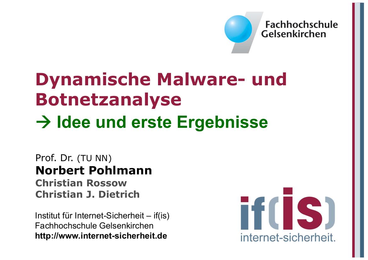 235-Dynamische-Malware-und-Botnetzanalyse-Prof.-Norbert-Pohlmann