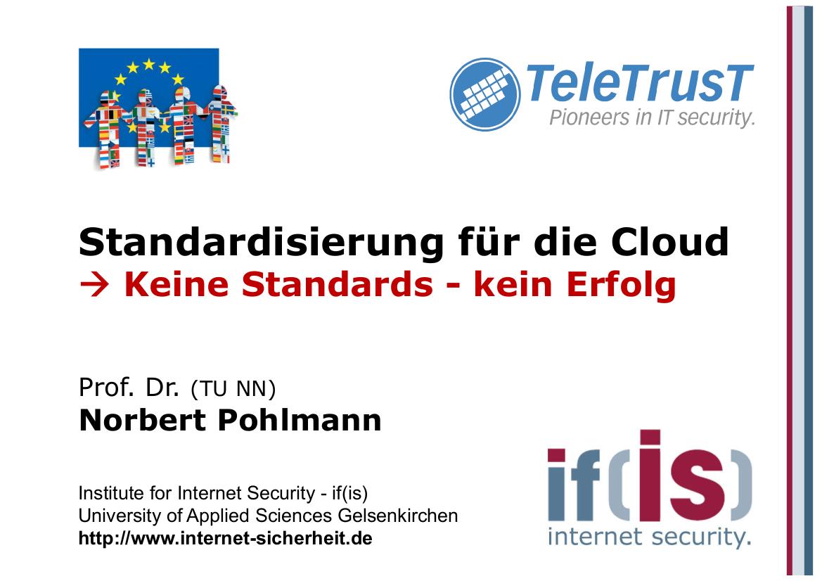 238-Standardisierung-für-die-Cloud-Keine-Standards-–-kein-Erfolg-Prof.-Norbert-Pohlmann