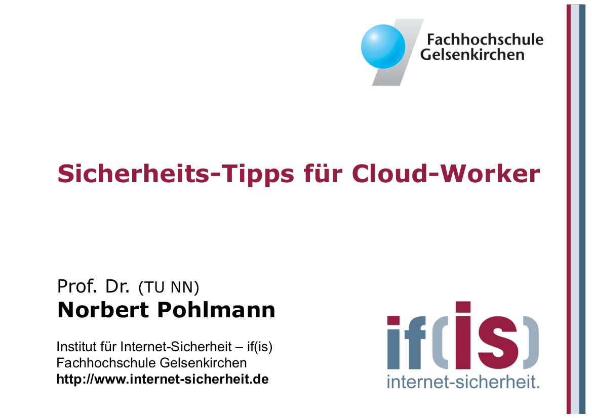 241-Sicherheits-Tipps-für-Cloud-Worker-Gelsennet-Make-IT-Prof.-Norbert-Pohlmann