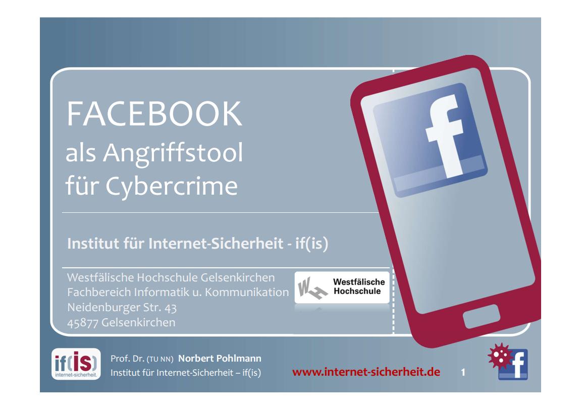 264-Facebook-als-Angriffstool-für-Cybercrime-Prof-Norbert-Pohlmann