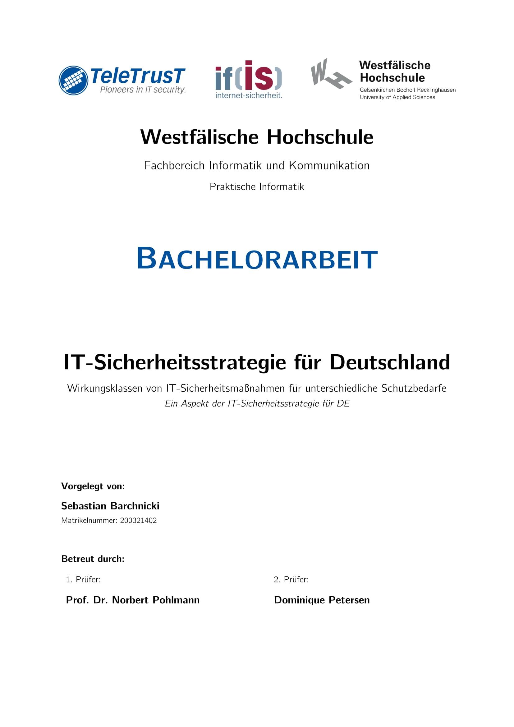 IT-Sicherheitsstrategie für Deutschland - Prof. Norbert Pohlmann 2015-1-1-1
