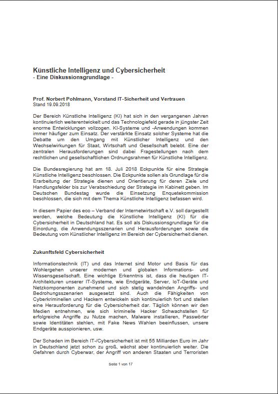 Künstliche-Intelligenz-und-Cybersicherheit-Diskussionsgrundlage-für-den-Digitalgipfel-2018-Prof.-Norbert-Pohlmann
