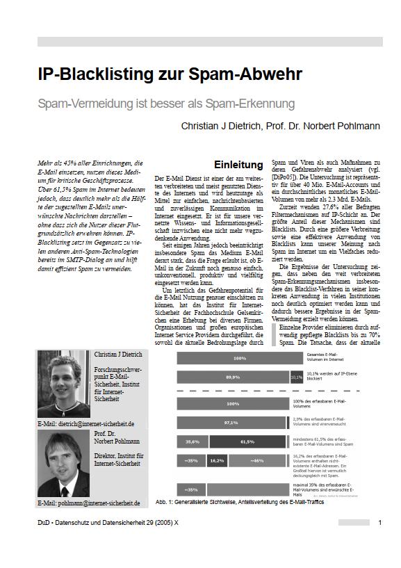 162-IP-Blacklisting-zur-Spam-Abwehr-–-Spam-Vermeidung-ist-besser-als-Spam-Erkennung-Prof-Norbert-Pohlmann