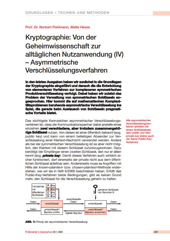 182-Kryptographie-IV-Von-der-Geheimwissenschaft-zur-alltäglichen-Nutzanwendung-–-Asymmetrische-Verschlüsselungsverfahren-Prof.-Norbert-Pohlmann