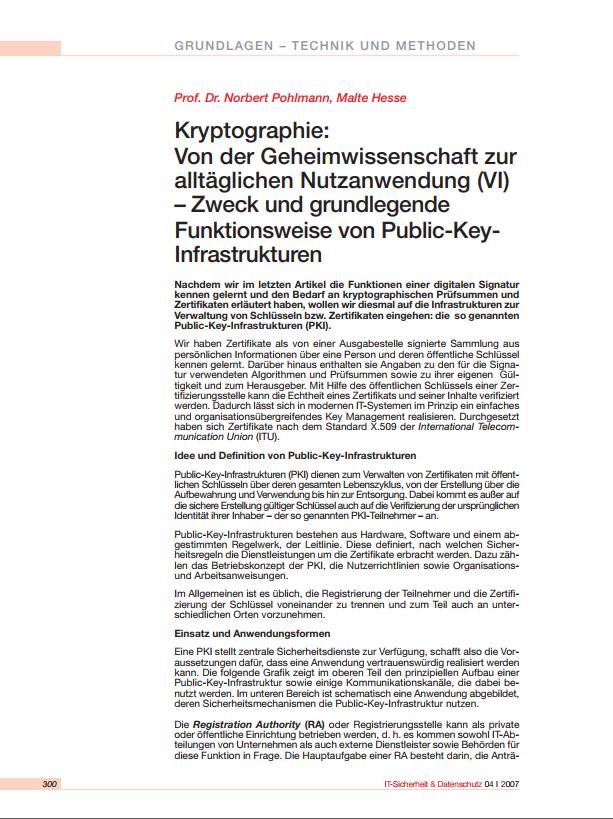 196-Kryptographie-Von-der-Geheimwissenschaft-zur-alltäglichen-Nutzanwendung-VI-–-Public-Key-Infrastruktur-PKI-Prof.-Norbert-Pohlmann