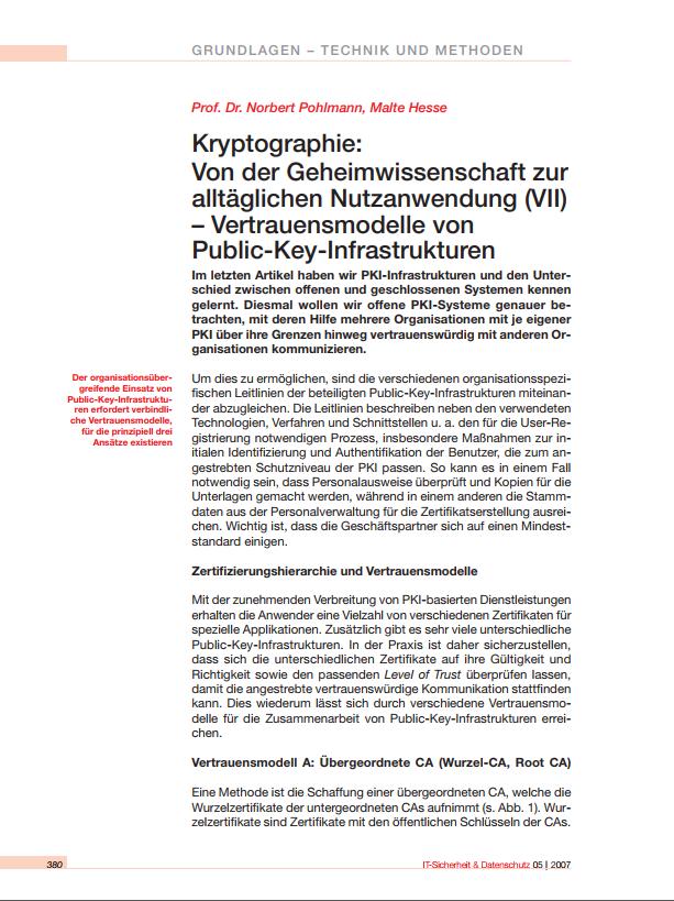 199-Kryptographie-Von-der-Geheimwissenschaft-zur-alltäglichen-Nutzanwendung-VII-–-Vertrauensmodelle-von-Public-Key-Infrastrukturen-Prof.-Norbert-Pohlmann