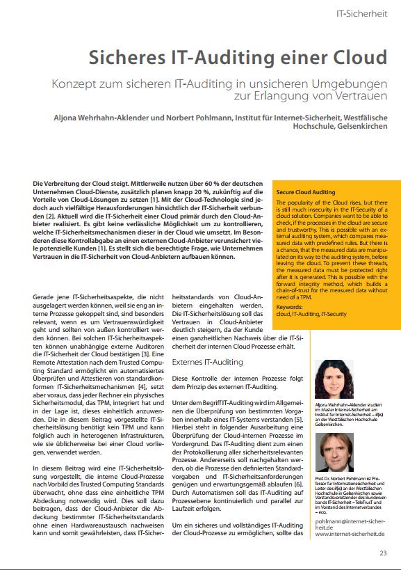 370-Sicheres-IT-Auditing-einer-Cloud-–-Konzept-zum-sicheren-IT-Auditing-in-unsicheren-Umgebungen-zur-Erlangung-von-Vertrauen-Prof.-Norbert-Pohlmann