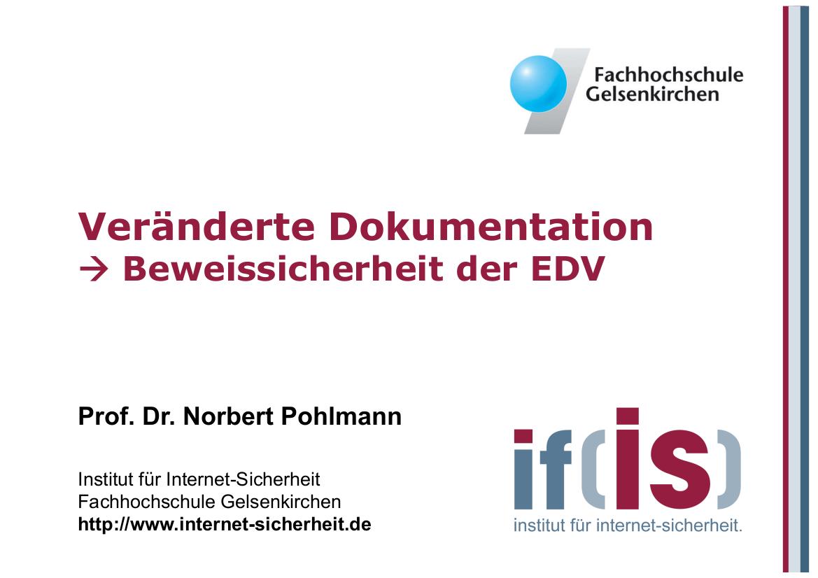 166-Beweissicherung-der-EDV-Beweissicherung-der-EDV-Prof.-Dr.-Norbert-Pohlmann