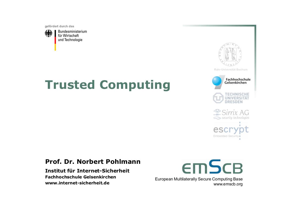 183-Trusted-Computing-Bausteine-für-sichere-elektronische-Geschäftsprozesse-Prof.-Pohlmann