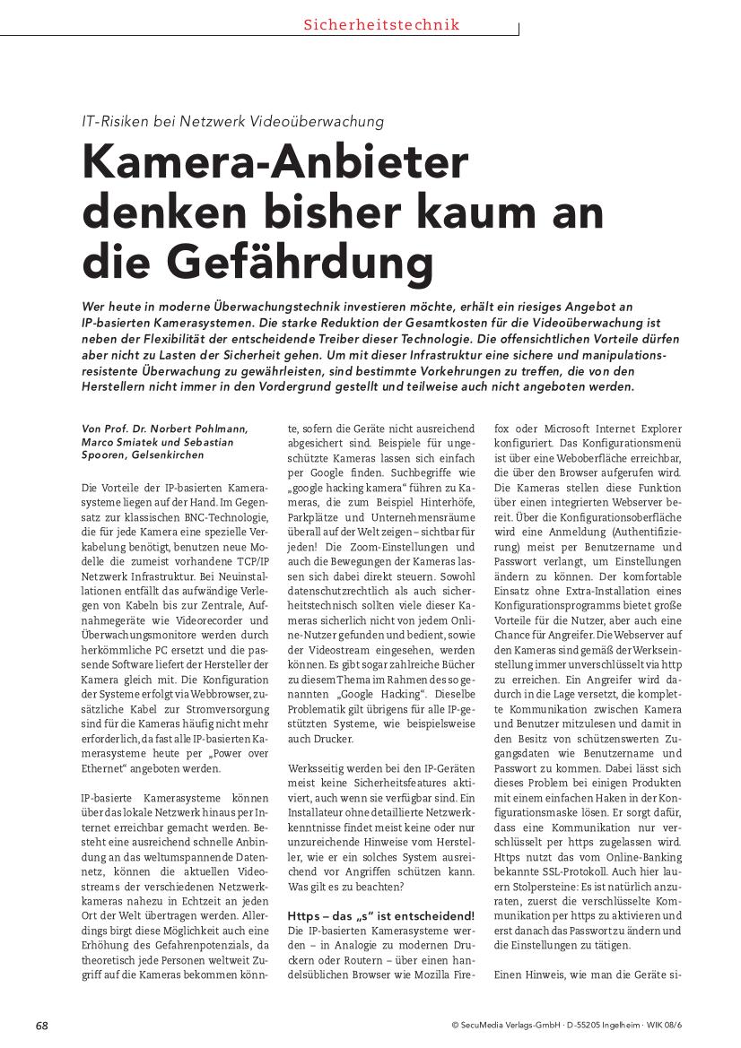 237-IT-Risiken-bei-Netzwerk-Videoüberwachung-–-Kamera-Anbieter-denken-bisher-kaum-an-die-Gefährdung-Prof.-Norbert-Pohlmann