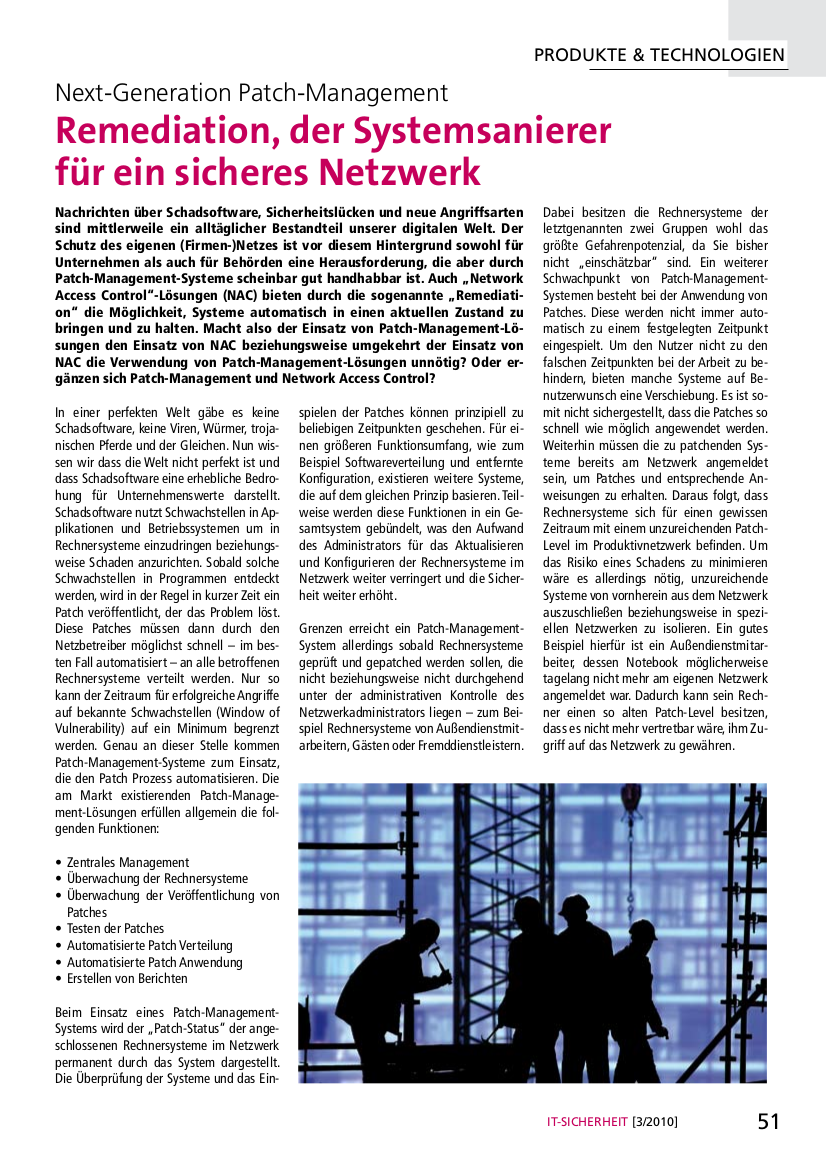 256-Next-Generation-Patch-Management-Remediation-der-Systemsanierer-für-ein-sicheres-Netzwerk-Prof-Norbert-Pohlmann