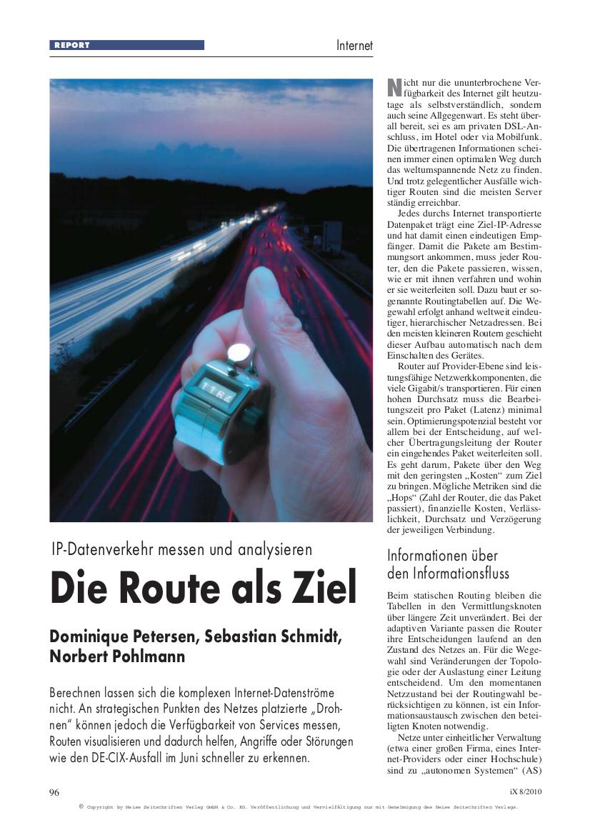 261-Die-Route-als-Ziel-–-IP-Datenverkehr-messen-und-analysieren-Internet-Datenströme-Prof.-Norbert-Pohlmann