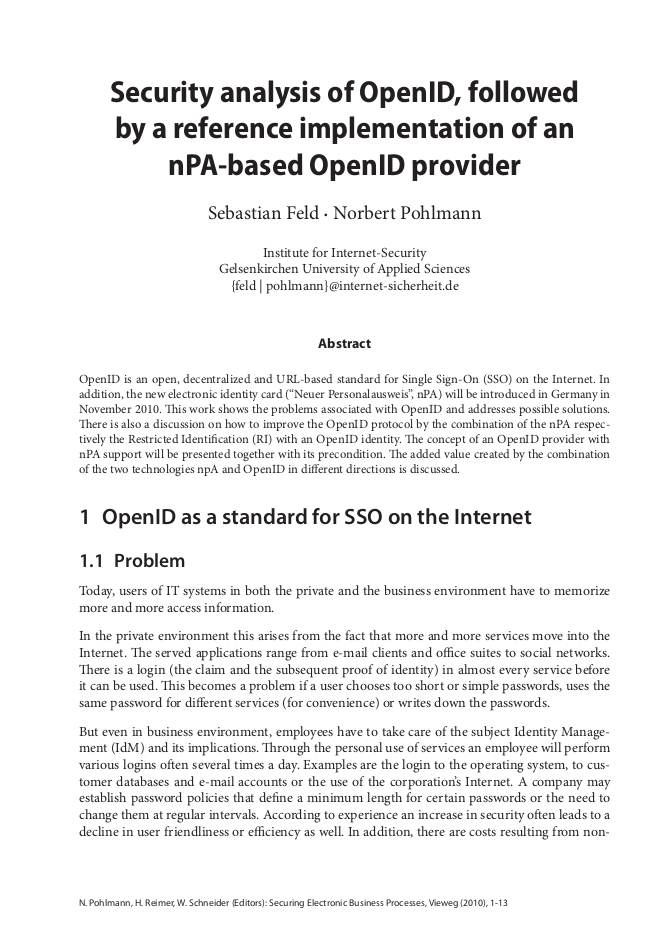264-Security-analysis-of-OpenID-followed-by-a-reference-implementation-of-an-nPA-based-OpenID-provider-Prof-Norbert-Pohlmann