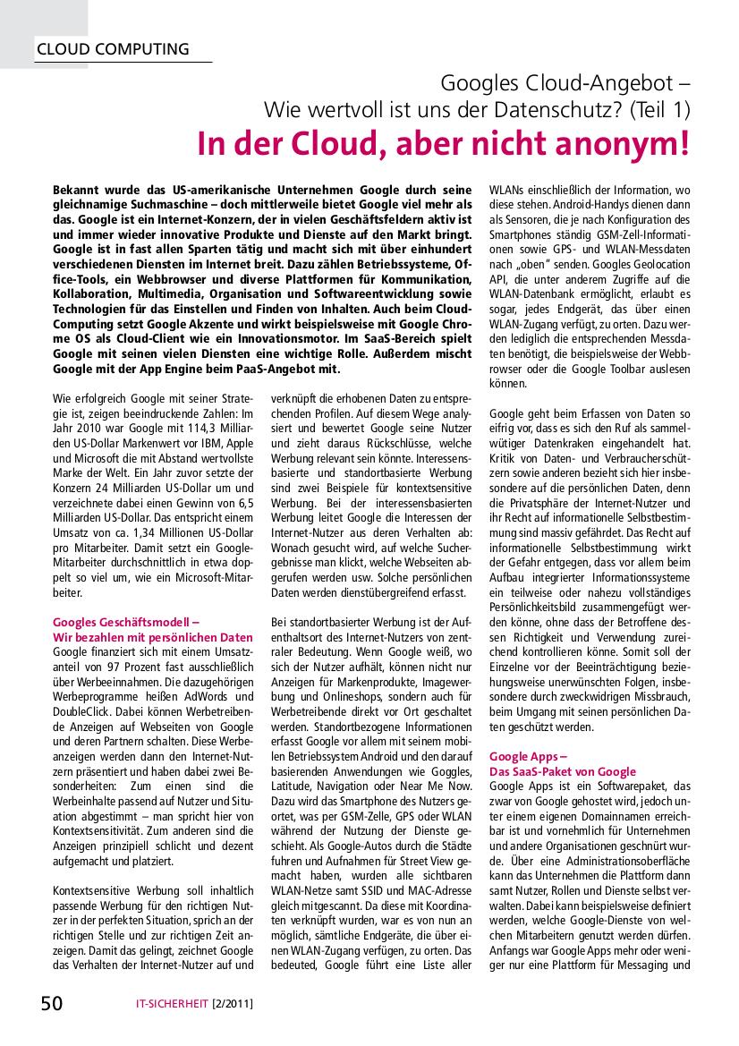 274-In-der-Cloud-aber-nicht-anonym-Googles-Cloud-Angebot-–-Wie-wertvoll-ist-uns-der-Datenschutz-Teil-1-Prof-Norbert-Pohlmann
