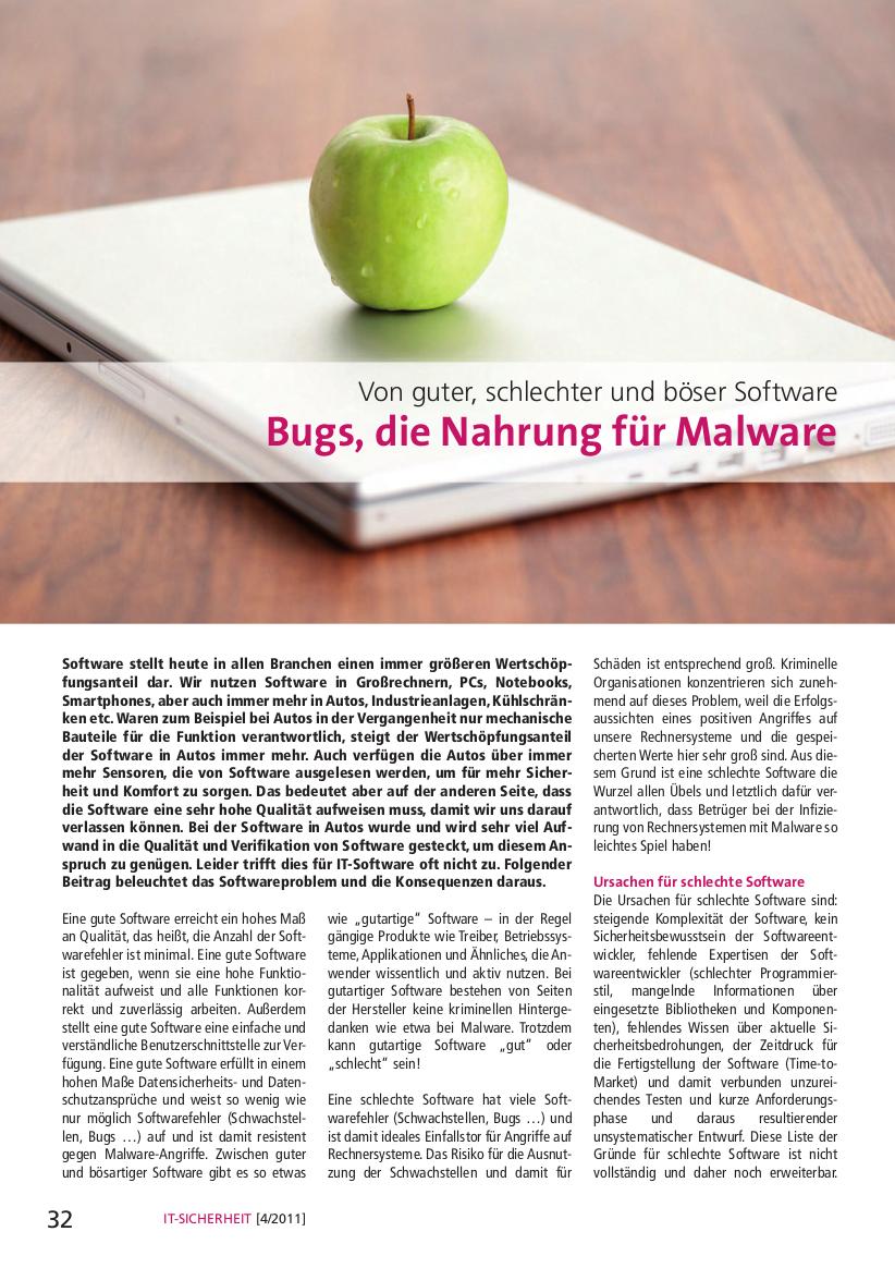 280-Bugs-die-Nahrung-für-Malware-Von-guter-schlechter-und-böser-Software-Prof-Norbert-Pohlmann