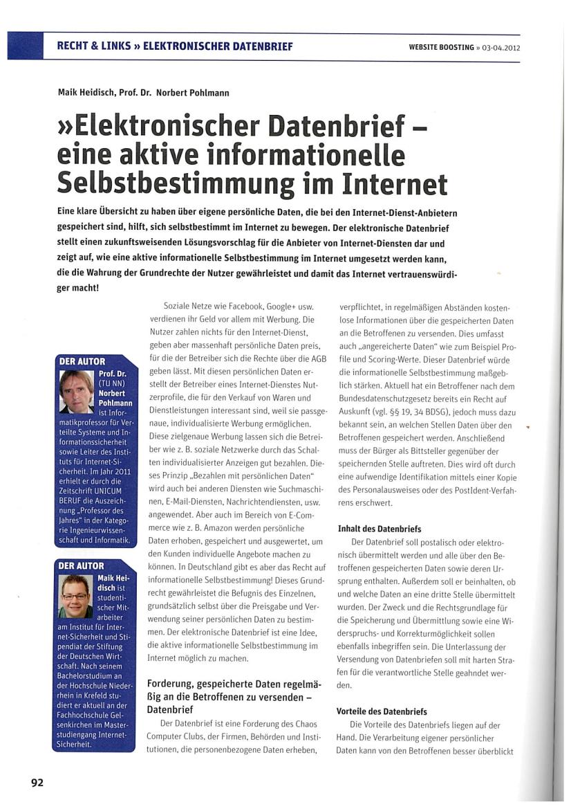 287-Elektronischer-Datenbrief-–-eine-aktive-informationelle-Selbstbestimmung-im-Internet-Prof-Norbert-Pohlmann