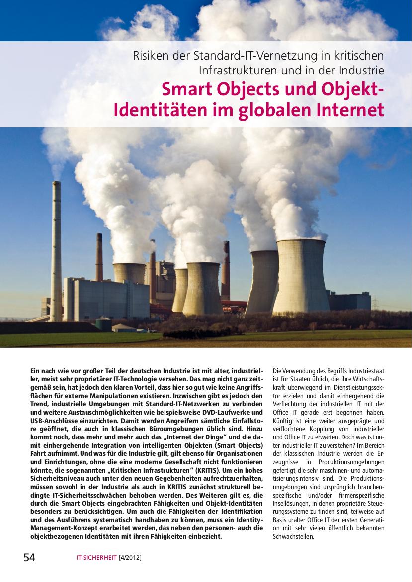293-Smart-Objects-und-Objekt-Identitäten-im-globalen-Internet-–-Risiken-der-Standard-IT-Vernetzung-in-kritischen-Infrastrukturen-und-in-der-Industrie-Prof.-Norbert-Pohlmann