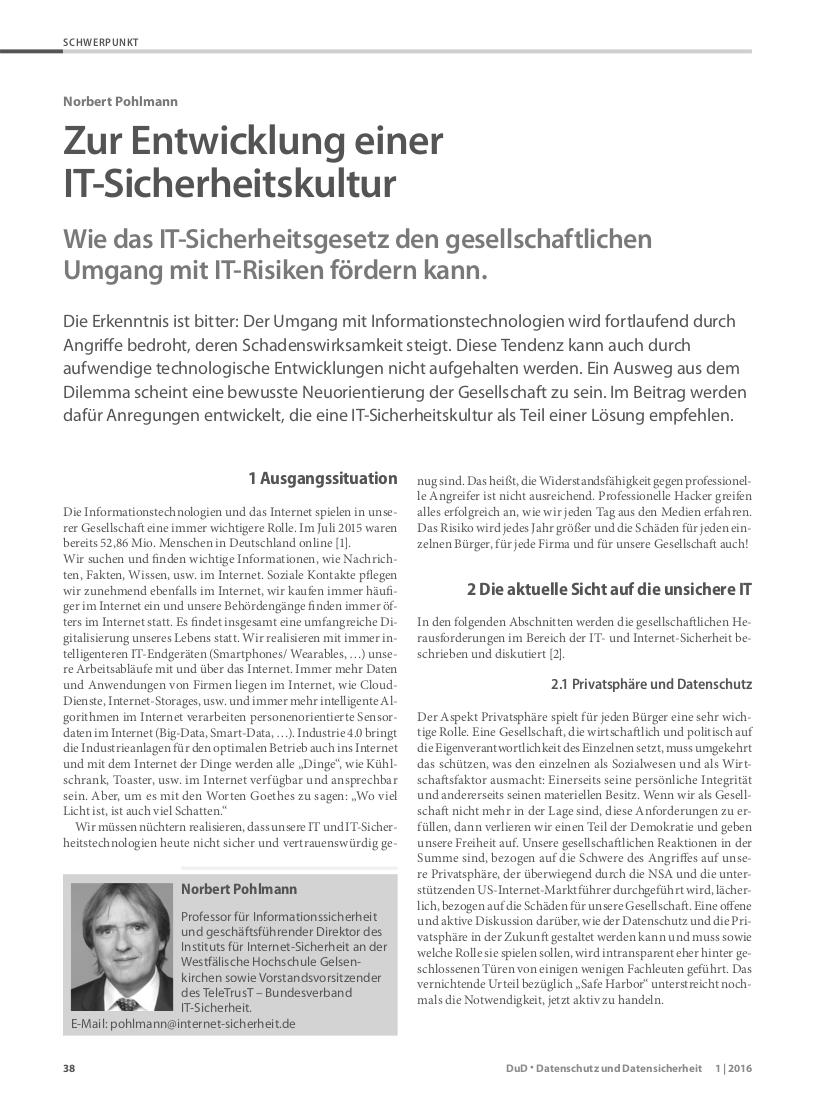 343-Zur-Entwicklung-einer-IT-Sicherheitskultur-–-Wie-das-IT-Sicherheitsgesetz-den-gesellschaftlichen-Umgang-mit-IT-Risiken-fördern-kann-Prof.-Norbert-Pohlmann