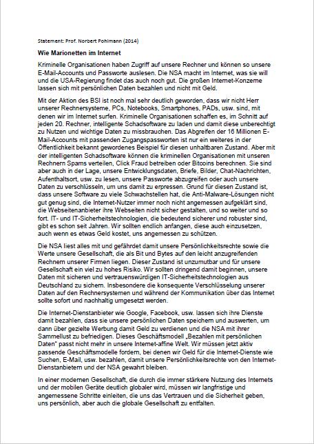 Statement-Wie-Marionetten-im-Internet-Prof.-Norbert-Pohlmann-2014