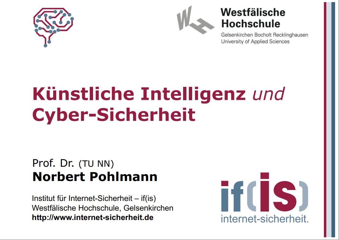 365 - Künstliche Intelligenz und Cyber-Sicherheit - SEKOP 2019 - Prof. Norbert Pohlmann