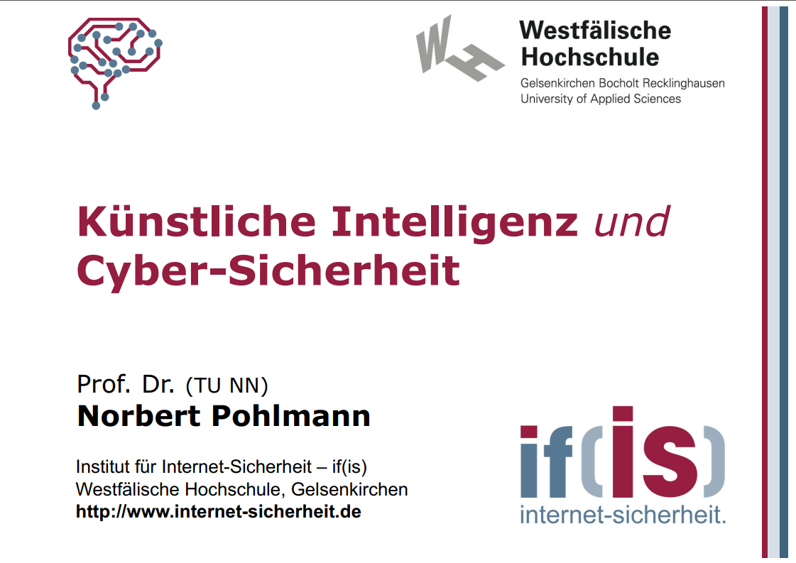 366 - Künstliche Intelligenz und Cyber-Sicherheit - IT-Sicherheitstag Rhein Ruhr - Prof. Norbert Pohlmann