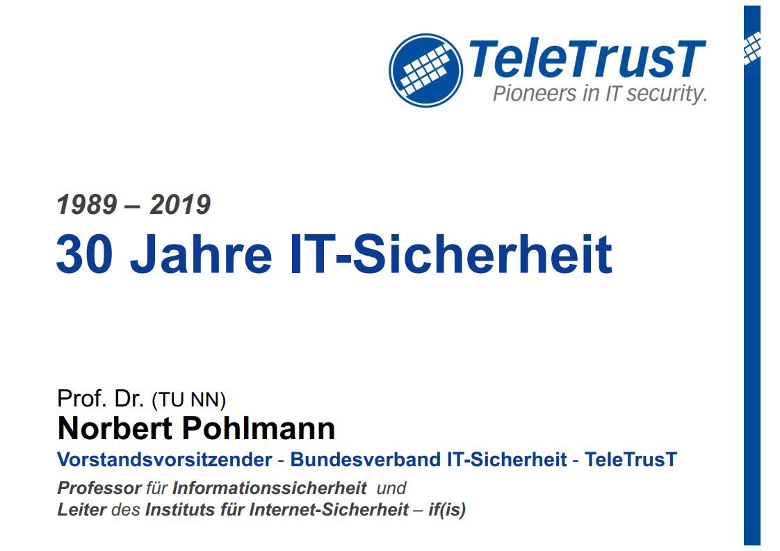 368 - 30 Jahre IT-Sicherheit - Prof. Norbert Pohlmann