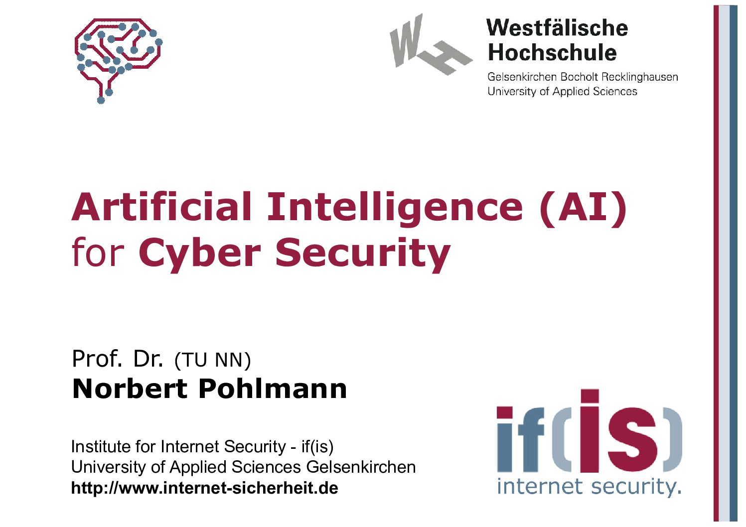 Vortrag Artificial-Intelligence-AI-for-Cyber-Security