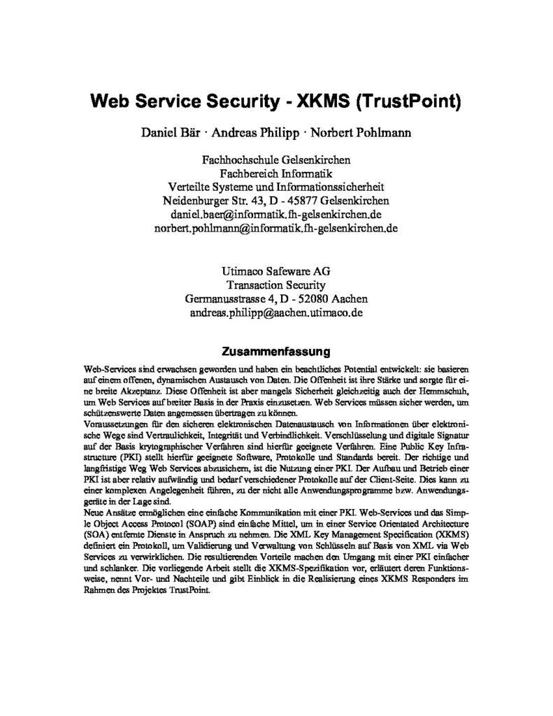 146-Web-Service-Security-XKMS-TrustPoint-Prof.-Norbert-Pohlmann-pdf