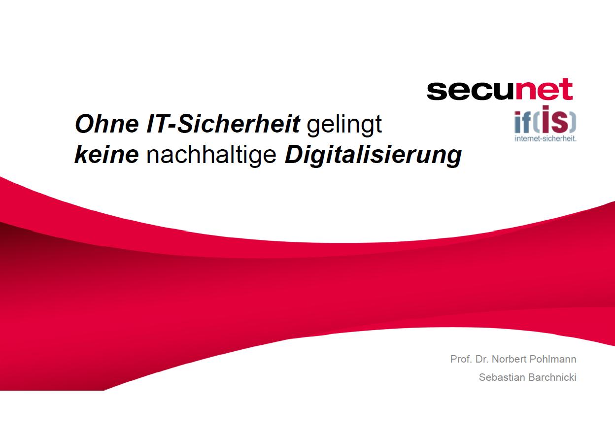 375 - INNOVATIONSTRANSFER - Erfolgsfaktor in der Digitalisierung 2019 - Ohne IT-Sicherheit gelingt keine nachhaltige Digitalisierung - Prof. Norbert Pohlmann
