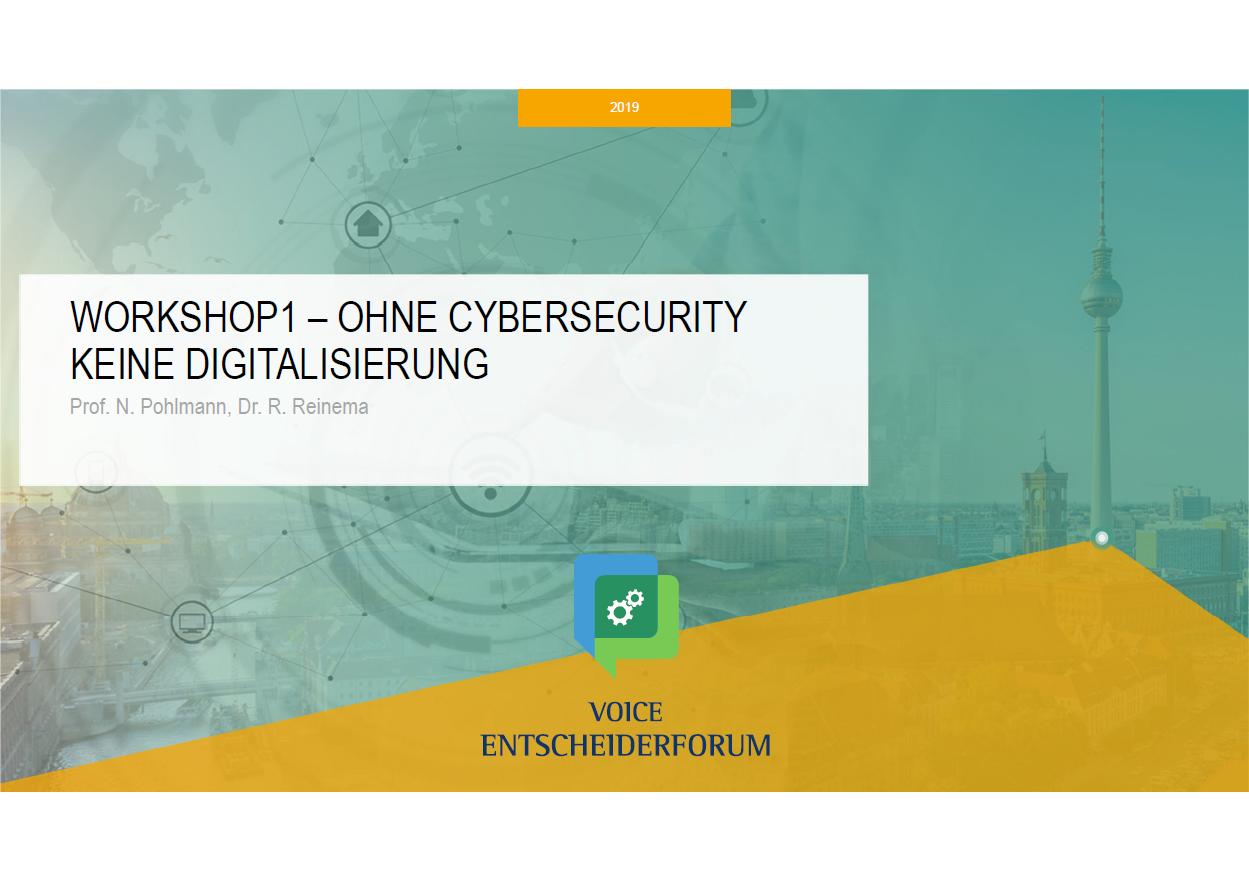 376 - VOICE ENTSCHEIDERFORUM - Ohne Cybersecurity keine Digitalisierung - Prof. Norbert Pohlmann