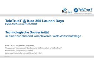 Technologische Souveränität - Vortrag - Prof. Norbert Pohlmann