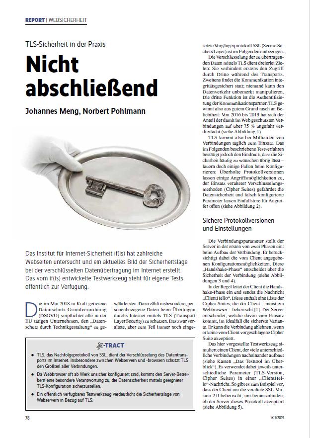 397 - Nicht abschließend - TLS-Sicherheit in der Praxis - Prof. Norbert Pohlmann