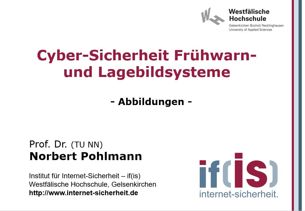 Abbildungen-Vorlesung-Cyber-Sicherheit Frühwarn- und Lagebildsysteme - Prof. Norbert Pohlmann