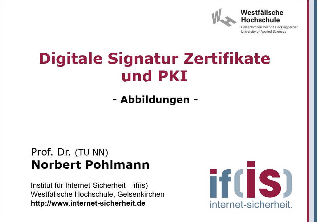 Abbildungen-Vorlesung-Digitale Signatur Zertifikate und PKI - Prof. Norbert Pohlmann