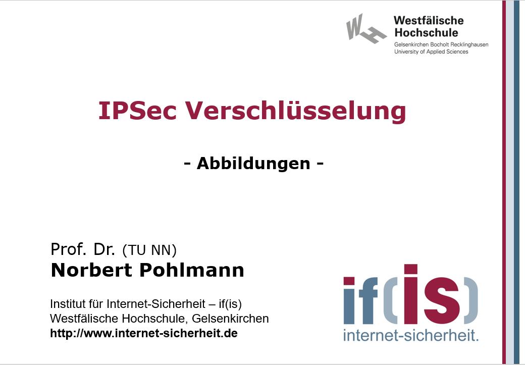 Abbildungen-Vorlesung-IPSec Verschlüsselung - Prof. Norbert Pohlmann