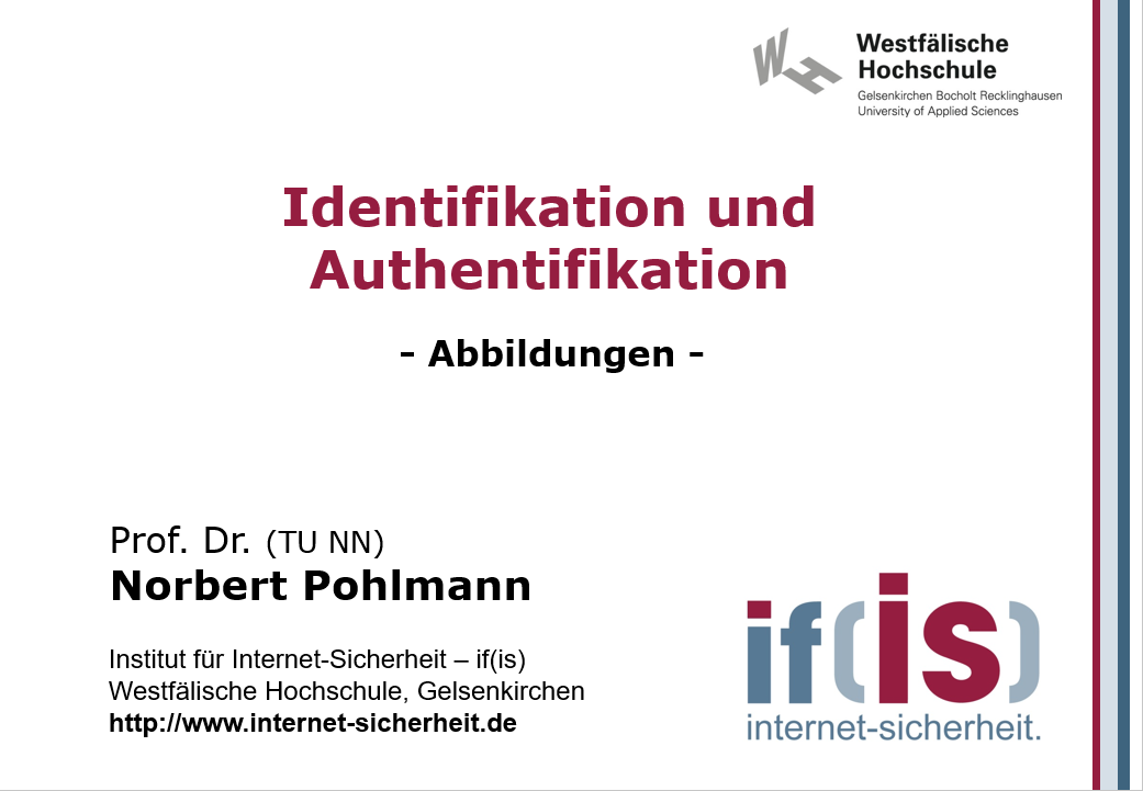 Abbildungen-Vorlesung-Identifikation und Authentifikation - Prof. Norbert Pohlmann