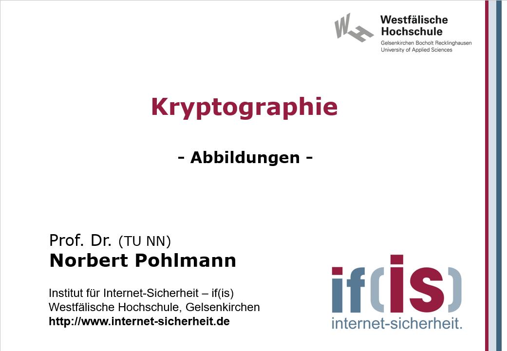 Abbildungen-Vorlesung-Kryptograhie - Prof. Norbert Pohlmann