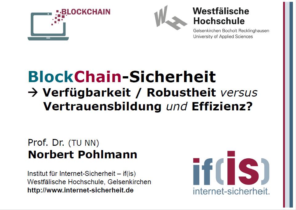 BlockChain-Sicherheit - Verfügbarkeit