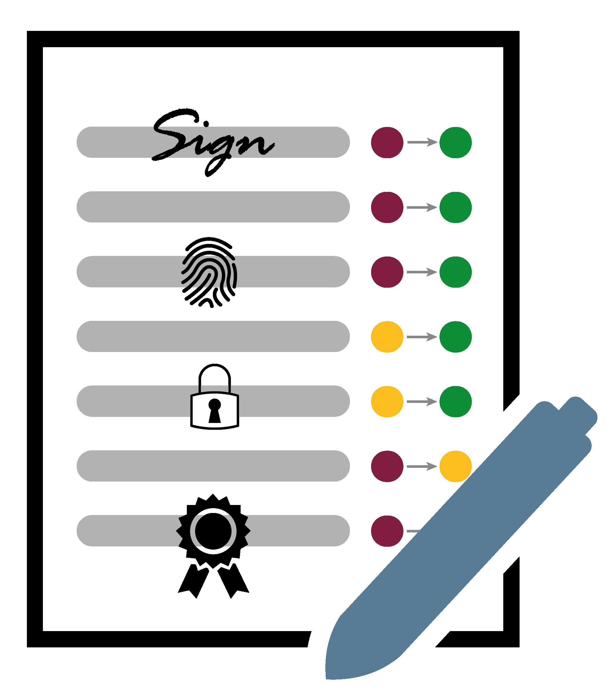 """Symbol für """"Sicherheitsanforderungen"""" – Glossar Cyber-Sicherheit – Prof. Norbert Pohlmann"""