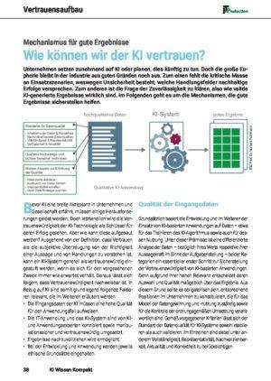 Wie können wir der KI vertrauen - Mechanismus für gute Ergebnisse