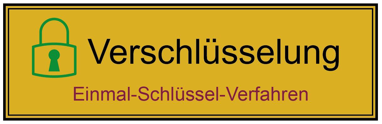 Einmal-Schlüssel-Verfahren - Glossar Cyber-Sicherheit - Prof. Norbert Pohlmann
