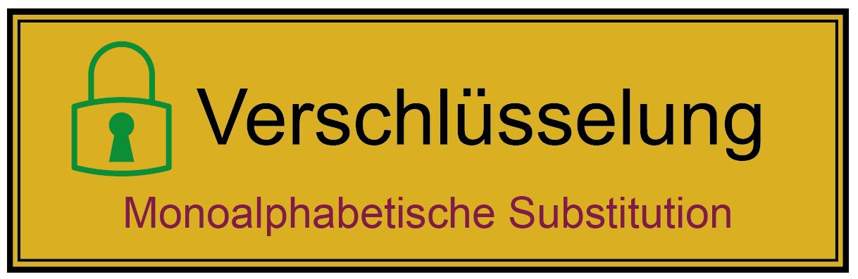 Monoalphabetische Substitution - Glossar Cyber-Sicherheit - Prof. Norbert Pohlmann