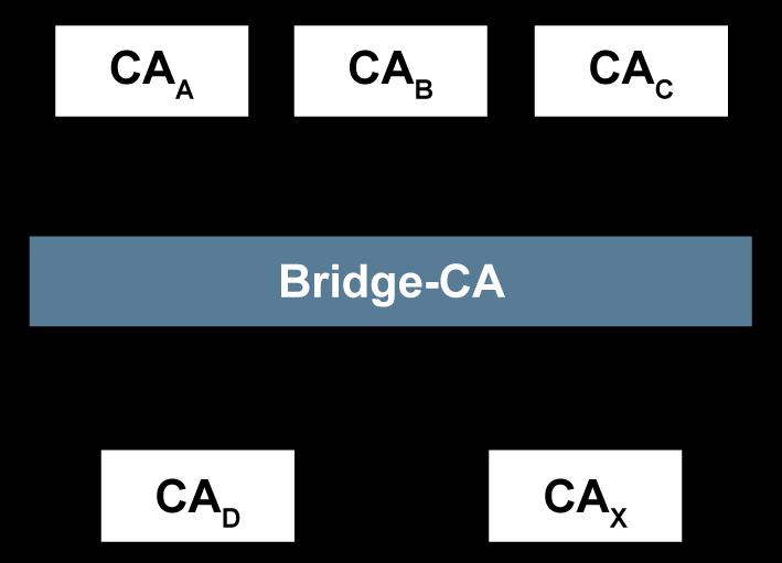 Vertrauensmodelle von Public-Key-Infrastrukturen - Bridge CA - Glossar- Cyber-Sicherheit - Prof. Norbert Pohlmann