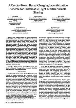 A Crypto-Token Based Charging Incentivization Scheme... - Prof. Norbert Pohlmann