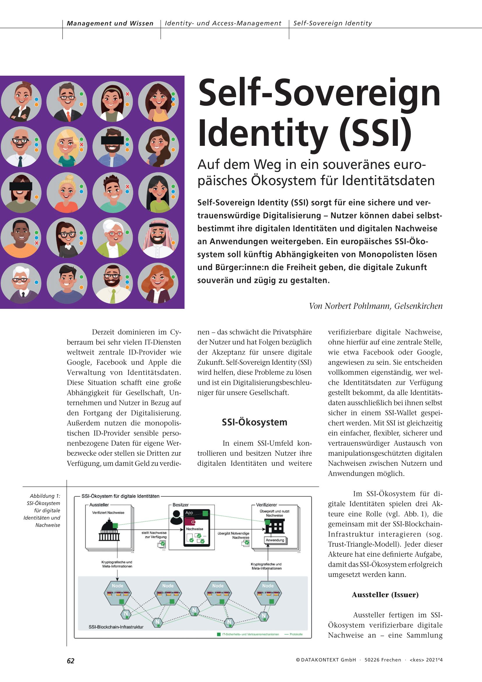 432 - Self-Sovereign Identity (SSI) - Auf dem Weg in ein souveränes europäisches Ökosystem für Identitätsdaten - Prof Norbert Pohlmann