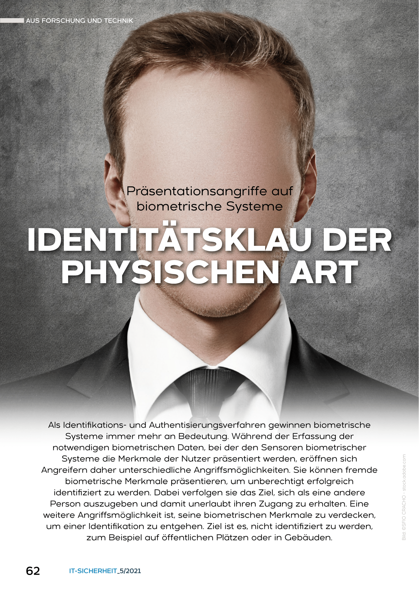 433 - Präsentationsangriffe auf biometrische Systeme - Identitätsklau der physischen Art - Prof Norbert Pohlmann